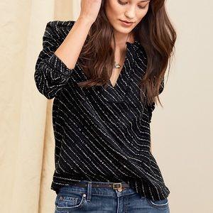 LILLA P   sz L double voile long sleeve blouse